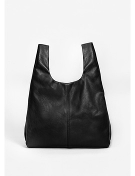 Leather Shopper Bag by Mango