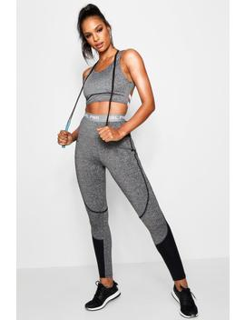 Daisy Fit 'grl Pwr' Slogan Running Legging by Boohoo