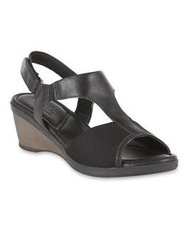 Usaflex Women's Liz Bunion Care Wedge Sandal   Black Usaflex Women's Liz Bunion Care Wedge Sandal   Black by Sears