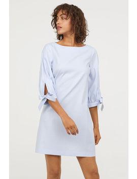 Kleid Mit Ärmeln Zum Binden by H&M