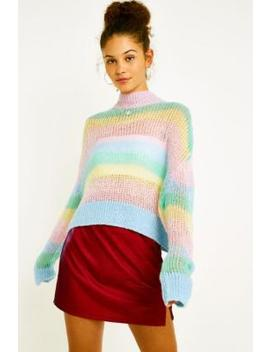 Lazy Oaf Pastel Rainbow Stripe Jumper by Lazy Oaf