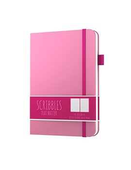 Scribbles That Matter (Pro Version) Dotted Journal Notebook Diary A5   Elastic Band   Beautiful Designer Cover   Premium Thick Paper (Pastel Pink) by Scribbles That Matter