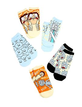 Rick And Morty No Show Socks 5 Pair by Hot Topic
