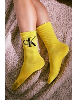 Calvin Klein Jeans Retro Logo Crew Socks by Calvin Klein Jeans