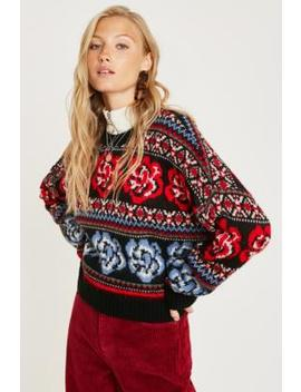 Uo Rose Motif Jumper by Urban Outfitters