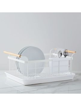 Tosca Dish Drainer Rack, White by West Elm