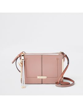 Pink Structured Cross Body Bag by River Island