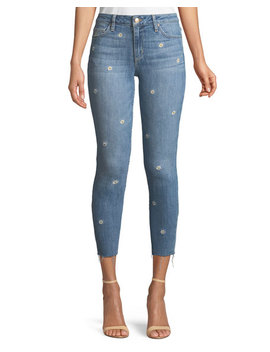 The Icon Cropped Embroidered Skinny Jeans by Joe's Jeans