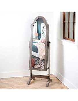 Hives & Honey  Bell Shape Full Length Mirror With Jewelry Storage by Hives & Honey