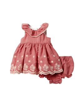 Woven Eyelet Sundress (Baby Girls 12 24 M) by Laura Ashley