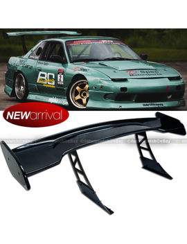 "For Jdm 57"" Racing Gt Style Down Force Trunk Spoiler Wing Painted Glossy Black by Gear Up"