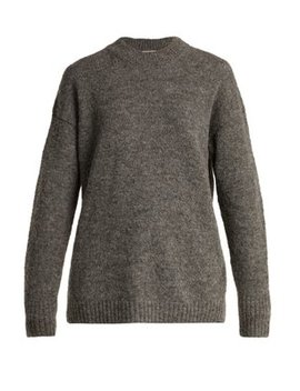 dropped-sleeve-wool-blend-sweater by tibi