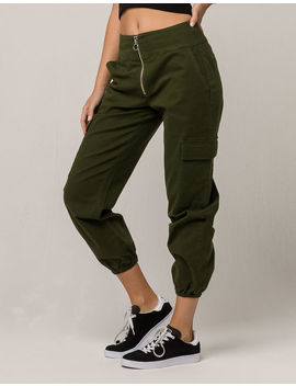 Tinseltown Olive Womens Cargo Pants by Tinseltown