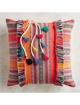 Fiesta Fringed Serape Striped Pillow by Pier1 Imports