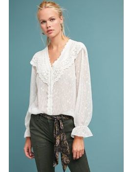 Alsace Ruffled Buttondown by Eri + Ali