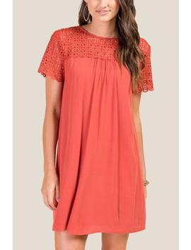 Darley Crochet Shift Dress by Francesca's