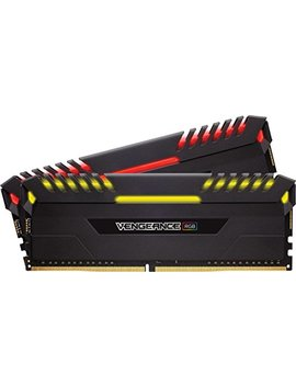 Corsair Cmr16 Gx4 M2 C3200 C16 Vengeance Rgb 16 Gb (2 X 8 Gb) Ddr4 3200 M Hz C16 Xmp 2.0 Enthusiast Rgb Led Illuminated Memory Kit, Black by Corsair