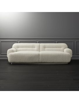 Logan Grey Boucle Sofa by Crate&Barrel