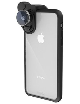 Olloclip Slim Case For I Phone X: Clear/Black by Olloclip