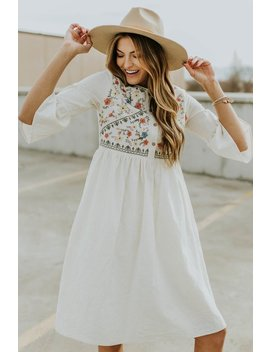 Bailee Embroidered Dress by Roolee