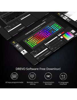 Drevo Tyrfing 87 Key V2 Mechanical Gaming Keyboard Us Layout Tenkeyless   Customizable Rgb Backlit   Programming Macro  Media Control   Software Support   Outemu Tactile [Brown Switch, Black] by Drevo