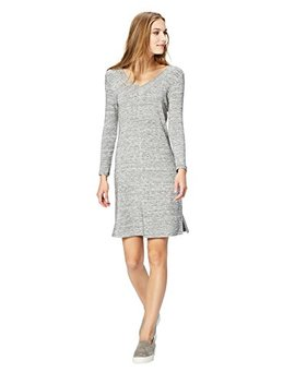 Daily Ritual Women's Supersoft Terry Long Sleeve V Neck Dress by Daily+Ritual