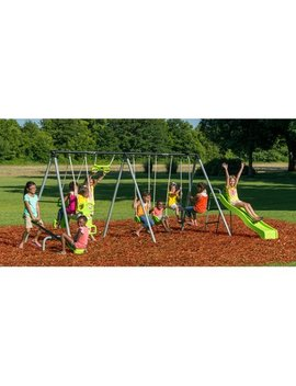 Flexible Flyer World Of Fun Metal Swing Set by Flexible Flyer