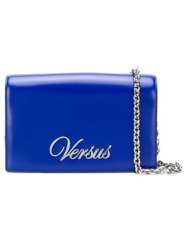 Logo Plaque Shoulder Bag by Versus