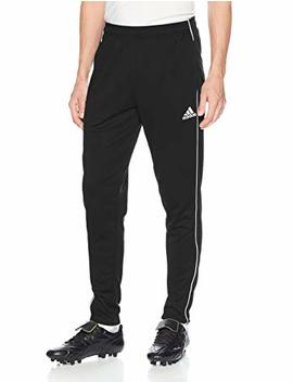 Adidas Men's Soccer Core 18 Training Pants, Black/White, Medium by Amazon