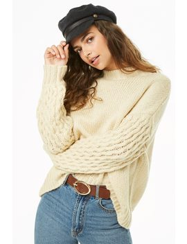 Plush Mock Neck Sweater by Forever 21