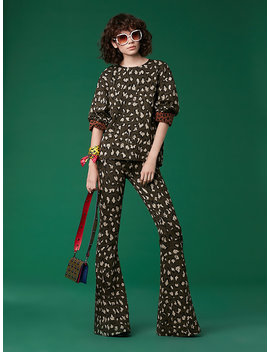 Low Rise Flare Pant by Dvf