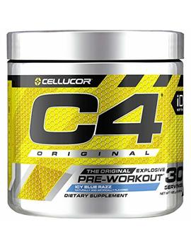 Cellucor C4 Original Pre Workout Powder Energy Drink W/Creatine, Nitric Oxide & Beta Alanine, Icy Blue Razz, 30 Servings by Cellucor