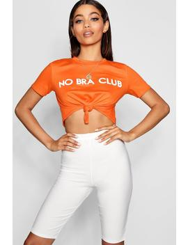No Bra Club Cropped T Shirt by Boohoo