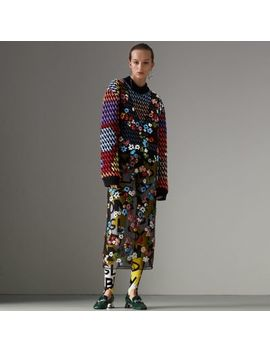 Graffiti Print Leggings by Burberry