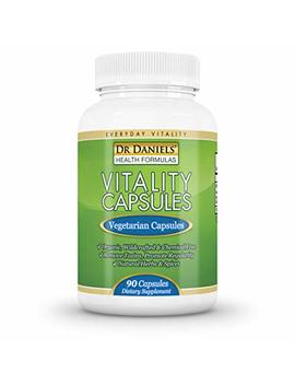 Dr Daniels Liver Cleanser For Constipation Relief, Increased Energy, Natural Detox And Candida Cleanse Preparation, 90 Vegan Vitality... by Vitality Capsules