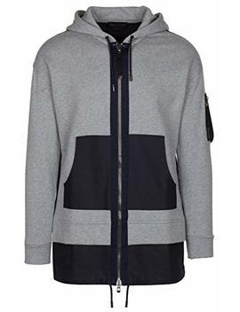 Diesel Black Gold Men's Gray Cotton 'siria' Sweatshirt Parka Zip Up Jacket by Diesel