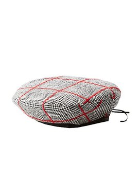 Plaid Beret Hat by Charlotte Russe