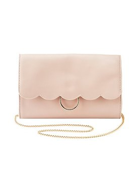 Scalloped O Ring Crossbody Bag by Charlotte Russe