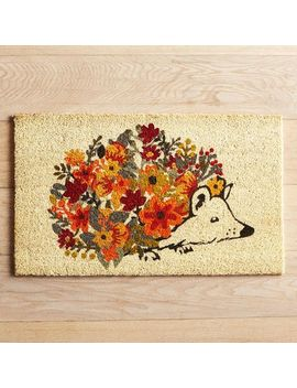 Hedgehog Flowers Doormat by Pier1 Imports