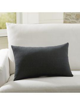Sunbrella ® Cilantro 20x13 Outdoor Lumbar Pillow by Crate&Barrel