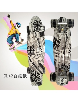 "Free Shipping 22"" Cruiser Mini Skateboard For Kids Plastic Penny Board Fishboard Completed Graphic Retro Banana Skate Board  by Sk8 Er"