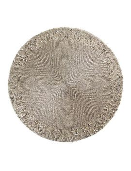 Glitz Beaded Silver Placemat by Pier1 Imports