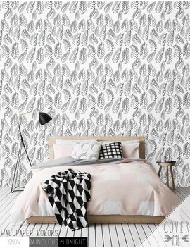 Leaf Removable Wallpaper / Nursery Self Adhesive Wallpaper / Leaf Wall Mural / Leaf Wall Sticker   Cm024 by Cover M Ewallpapers
