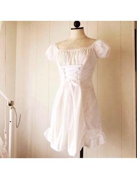 Tori Cotton Eyelet Dress  Off Shoulder Dress by Malicious Designs La