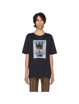 Navy Fancy T Shirt by Fendi