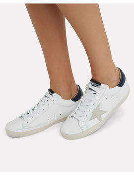Superstar Grey Star Low Top Sneakers by Golden Goose