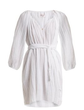 Peasant Cotton Tunic Dress by Loup Charmant