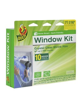 Duck Brand Indoor 10 Window Shrink Film Insulator Kit, 62 Inch X 420 Inch, 281506 by Duck