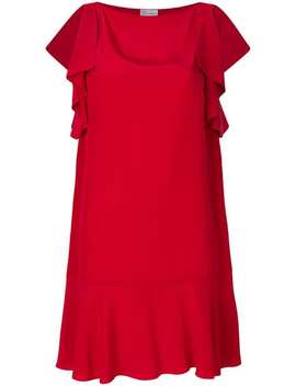 Red Valentinodraped Sleeve Mini Dress Home Women Red Valentino Clothing Evening Dresses Tusk Necklacedraped Sleeve Mini Dress by Red Valentino