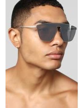Two Way Mirror Sunglasses   Silver by Fashion Nova